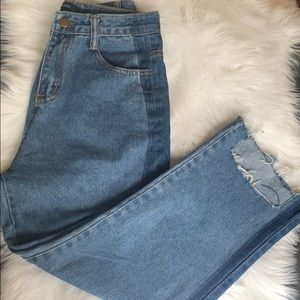 High waisted ankle jeans